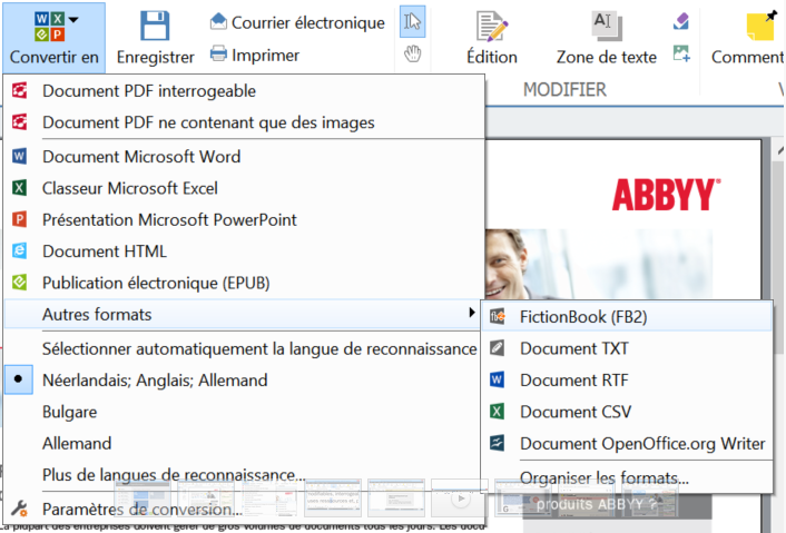 Abbyy pdf transformer - Convertir un fichier pdf en open office writer ...