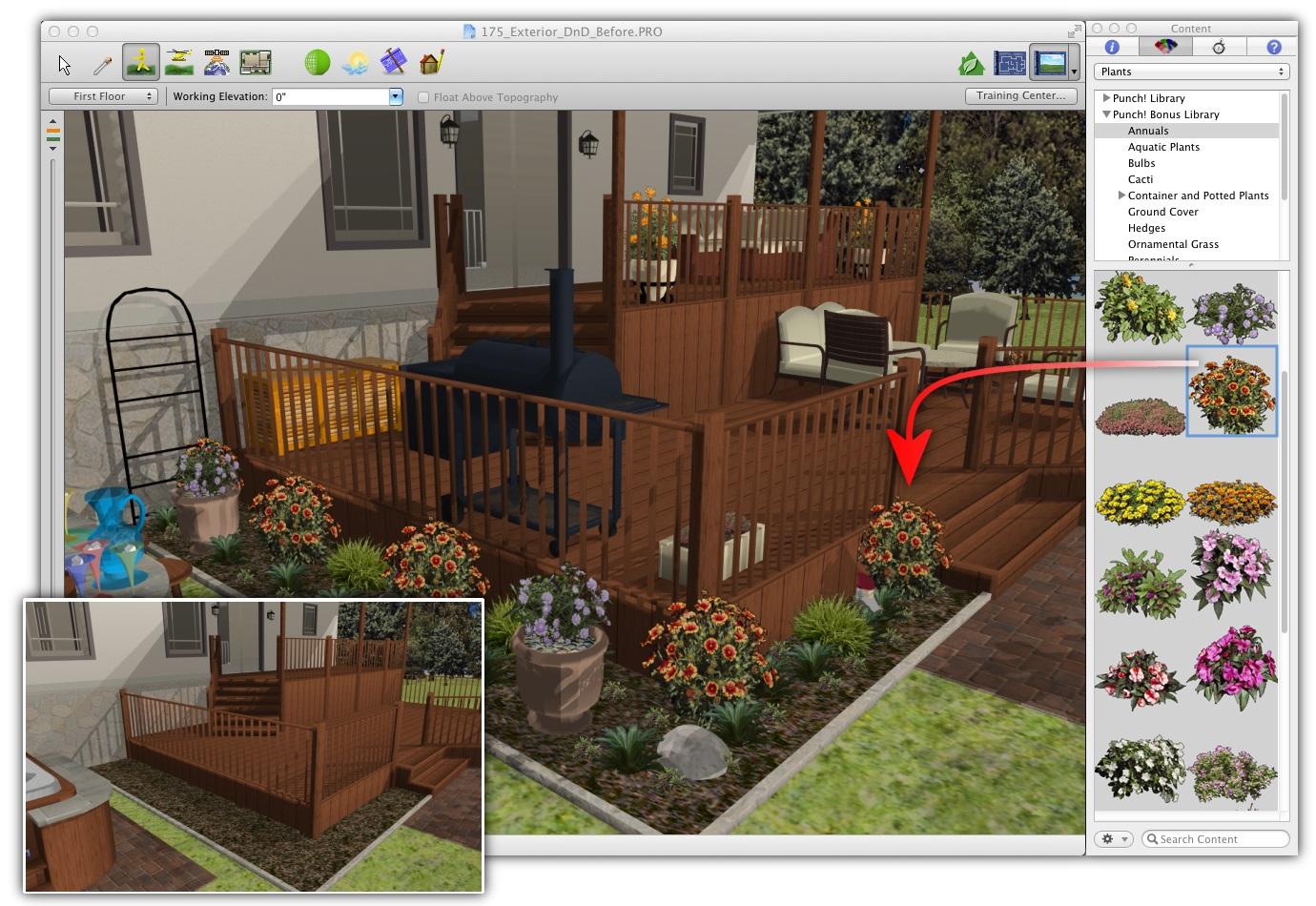 Architecte 3d jardin et ext rieur 2014 pour mac for Jardin 3d mac