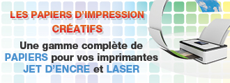 Papiers infomatiques, de présentation, créatifs, photo, étiq