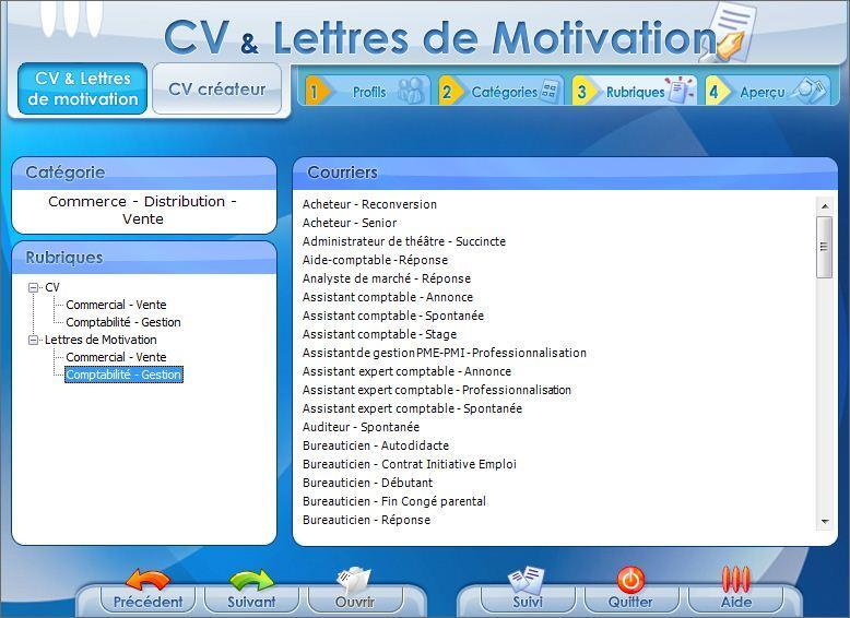 cv  u0026 lettres de motivation