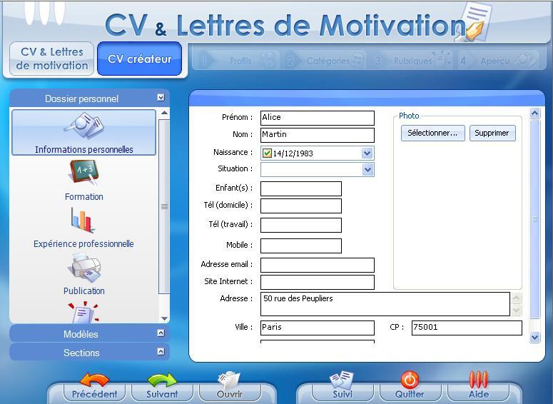 coffret cv  u0026 lettres de motivation emploi et courriers types