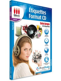 Image miniature Etiquettes CD Extra Larges