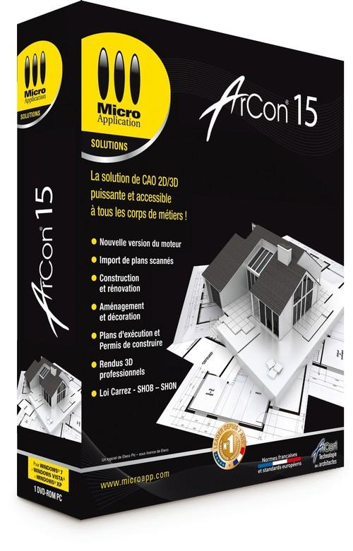 Logiciel d 39 architecture 3d arcon 15 cao construction for Logiciel construction 3d