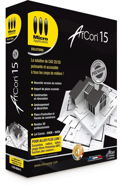 Architecte 3d pro arcon 15 premium mise jour for Micro application architecte 3d