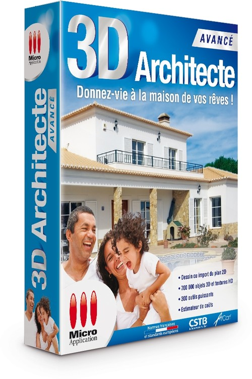 3d architecte avanc for Architecte 3d vue 3d