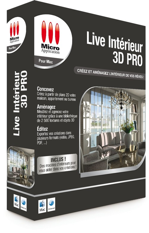 Live int rieur 3d pro mac for Interieur 3d
