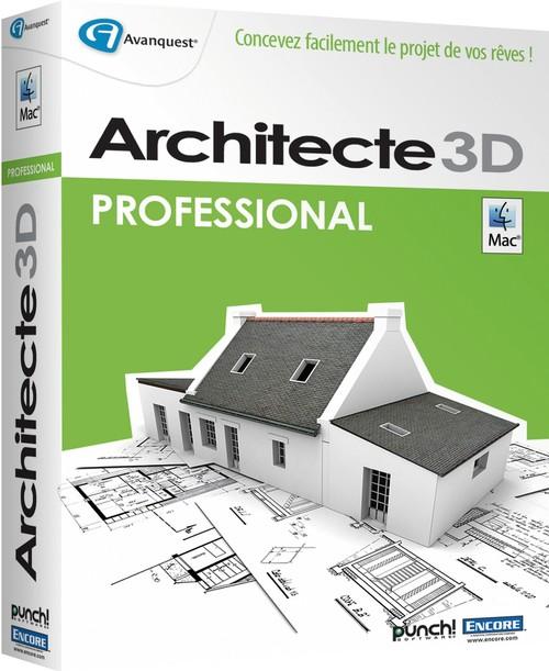 Le logiciel darchitecture Architecte 3D pour Macintosh