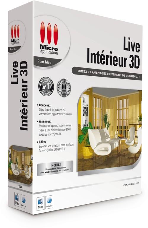 Live intérieur 3D Mac logiciel architecture 3D mac