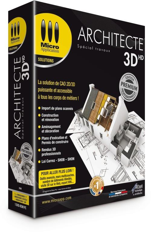 Micro application 3d architecte pro cadillac for Logiciel 3d construction
